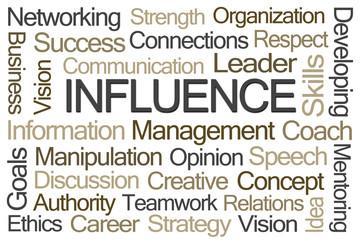 Influence Word Cloud