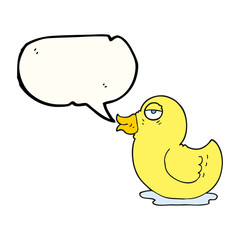 speech bubble cartoon rubber duck