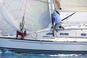 regata nel Mar Mediterraneo, Italia