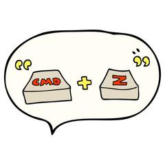 speech bubble cartoon command Z function