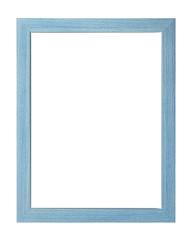 blue wooden frame