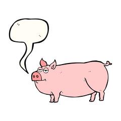 speech bubble cartoon huge pig