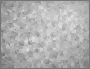 vector illustration - gray abstract mosaic triangle background