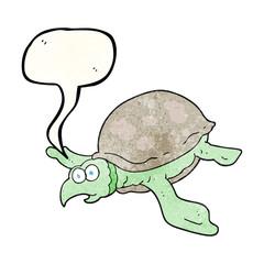 speech bubble textured cartoon turtle