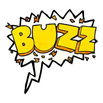 speech bubble textured cartoon buzz symbol