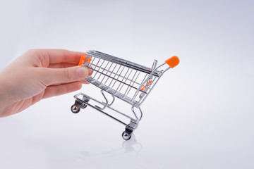 Hand holding a Cart