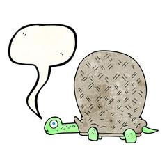 speech bubble textured cartoon tortoise