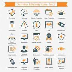 Anti virus & Security icons - Set 3