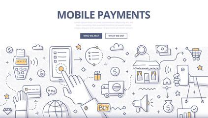 Mobile Payments Doodle Concept