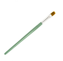 Green Paint Brush isolated over white