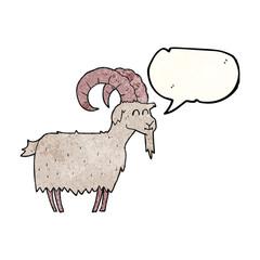 speech bubble textured cartoon goat