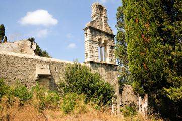 Klosterruine Panagia am Kap Asprokávos an der Südspitze der Insel Korfu Griechenland