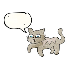texture speech bubble cartoon cat