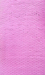Pink brick wall, abstract pattern background.