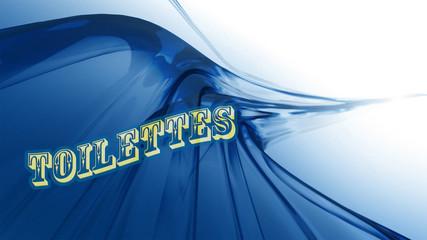 AFFICHE TOILETTES