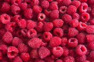 Delicious Raspberries Texture. Fresh raspberries background