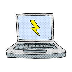 cartoon laptop computer