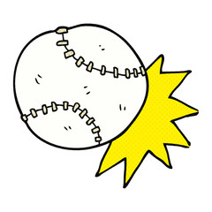 cartoon baseball ball