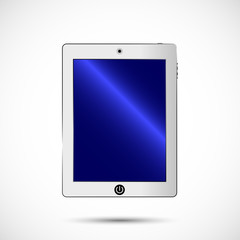 White tablet in color. electronics for your design