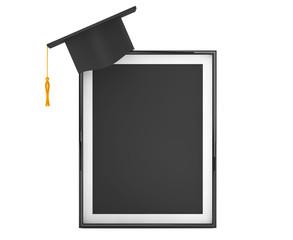 Graduation Academic Cap with Blank Photo Frame