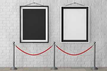 Picture Frames with Stand Rope Barriers