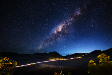 Milky way across Mt.Bromo,East Java,Indonesia