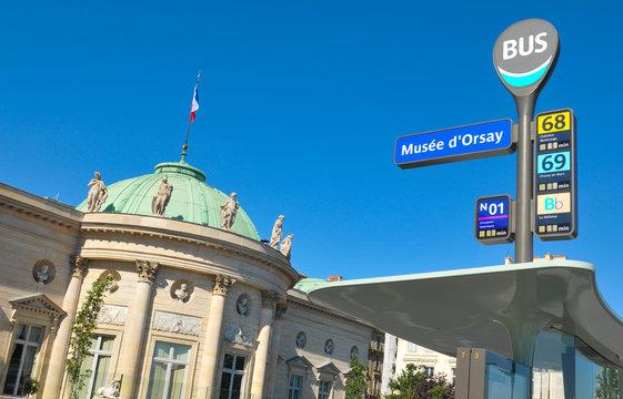 Bus stop in Paris