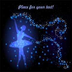 Greeting card with tender ballerina