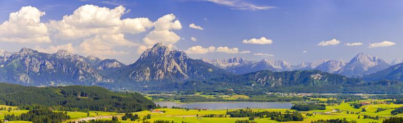 Wall Mural - Panorama Landschaft in Bayern im Allgäu bei Füssen