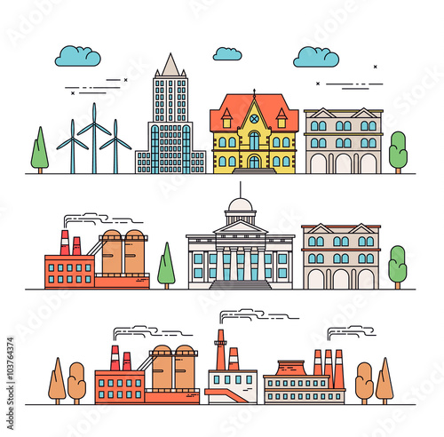 Different Types Of Buildings : Quot different types of industrial construction illustration