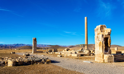Ruins at Audience Palace in Pasargadae, Iran