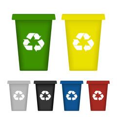 Ecological trash set. Vector