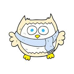 cartoon owl wearing scarf
