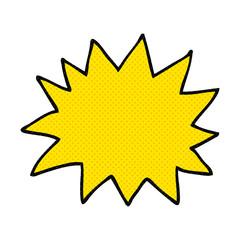 cartoon simple explosion symbol