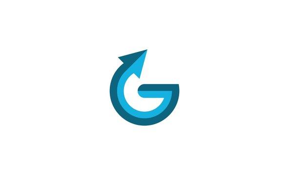 letter G arrow logo