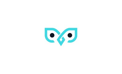 owl abstrack icon vector logo