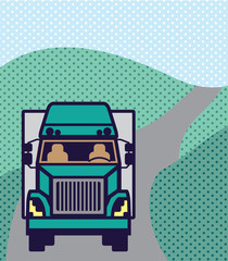Truck front Color Vector