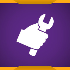 Work tool in hand icon
