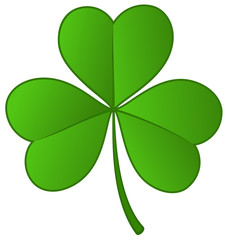 Vector illustration of a three-leaf shamrock.