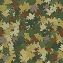 Fallen maple leaves hunters camouflage.