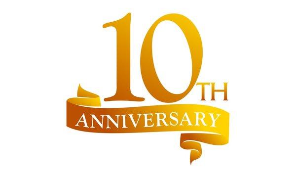 10 Ribbon Anniversary