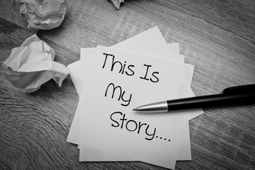 Obraz This is My Story - fototapety do salonu
