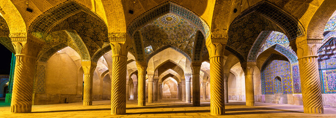 Interior of Vakil Mosque in Shiraz, Iran