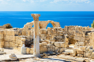 Autocollant pour porte Chypre Limassol District. Cyprus. Ruins of ancient Kourion