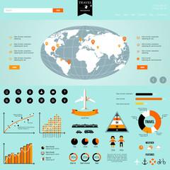 Travel Info graphics.