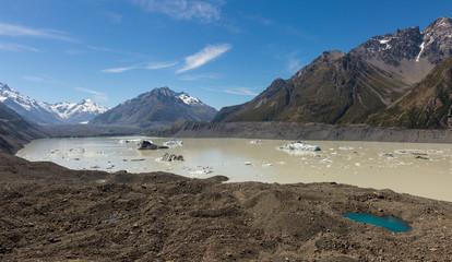 Tasman Glacier Lake in Mount Cook National Park