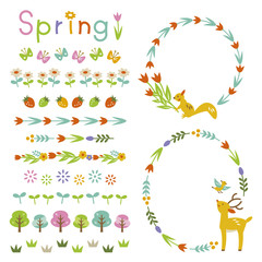 Spring frame and decorations
