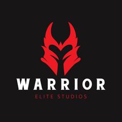 warrior logo,vector logo template