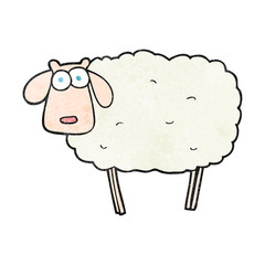 textured cartoon sheep