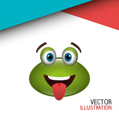 frog emoticon design